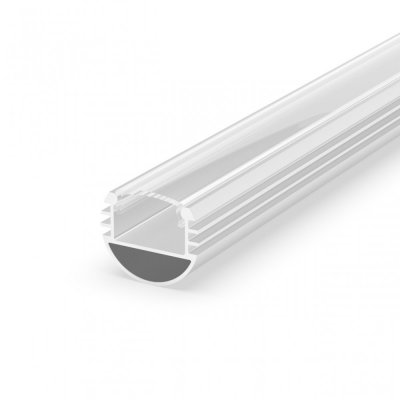Profil P8-1 do poświetlania szaf LED biały lakierowany z kloszem transparentnym 2m