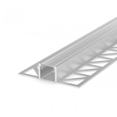 Profil LED Wpuszczany P17-2 perforowany anodowany z kloszem transparentnym 2m