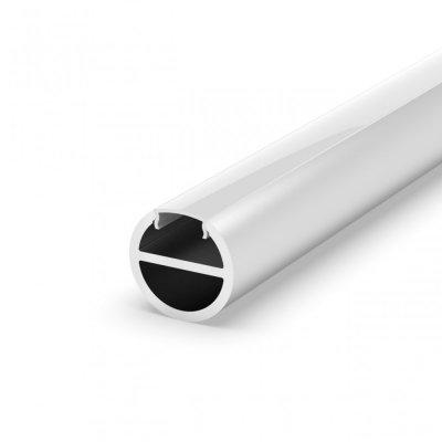 Profil P19-1 do poświetlania szaf LED srebrny chromowany z kloszem mlecznym 2m