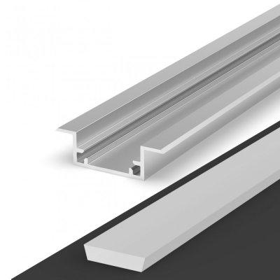 Hermetyczny Profil LED P11-2 srebrny anodowany z kloszem mlecznym 2m