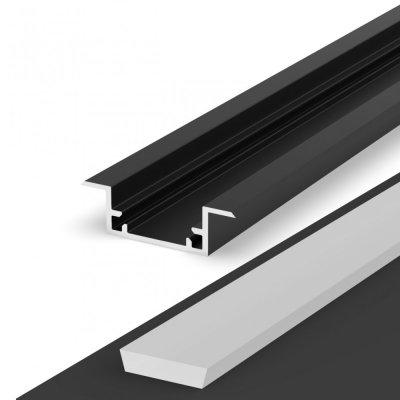 Hermetyczny Profil LED P11-2 czarny lakierowany z kloszem mlecznym 2m