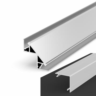 Profil LED Kątowy P12-1 anodowany z kloszem mlecznym 2m