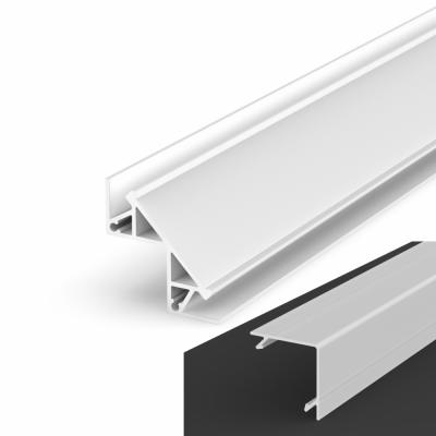 Profil LED Kątowy P12-1 biały lakierowany z kloszem mlecznym 2m