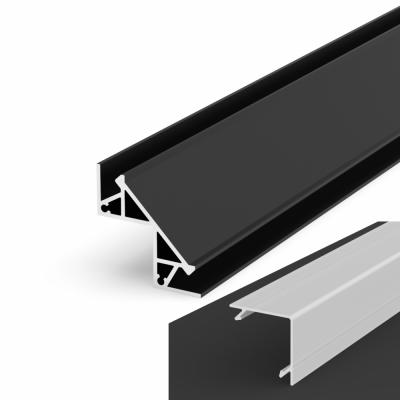 Profil LED Kątowy P12-1 czarny lakierowany z kloszem mlecznym 2m