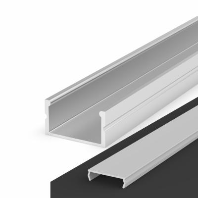 Profil LED Nawierzchniowy P13-2 anodowany z kloszem transparentnym 1m