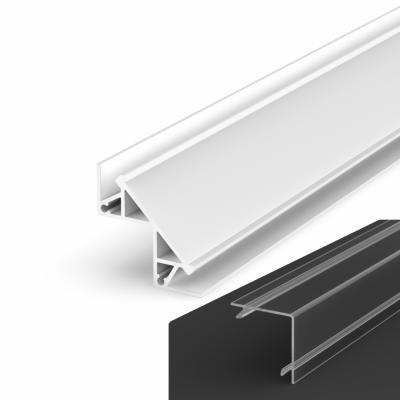 Profil LED Kątowy P12-1 biały lakierowany z kloszem transparentnym 1m