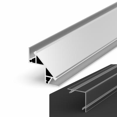 Profil LED Kątowy P12-1 anodowany z kloszem transparentnym 1m