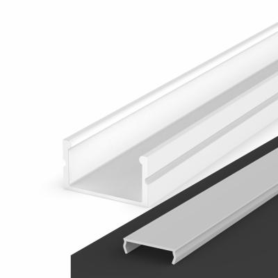 Profil LED Nawierzchniowy P13-2 biały lakierowany z kloszem transparentnym 1m