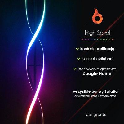 Lampa stojąca Bengrants High Spiral Smart 230V RGB Wi-Fi