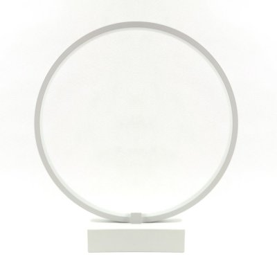 Lampa biurkowa RGB Bengrants Smart Circle Wi-Fi Lamp biała