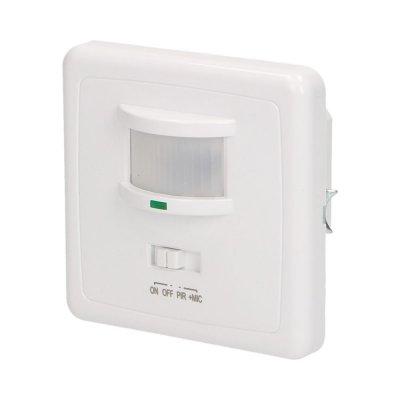 Czujnik ruchu PIR dopuszkowy 160° IP20 500W biały