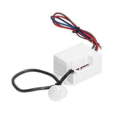 Czujnik ruchu PIR 360° 12-24V IP20 60-120W z zewnętrznym sensorem biały