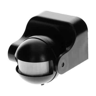 Czujnik ruchu PIR 180° regulowany pionowo IP44 1200W czarny