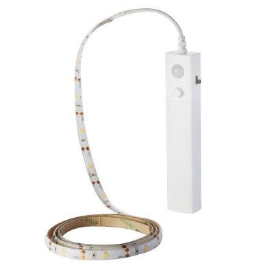 Taśma LED 2.4W 1 Metr 2835 / czujnik ruchu /zasilanie bateryjne / 4000K 200lm