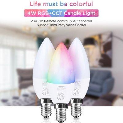 Inteligentna Żarówka Mi-Light E14 4W świeczka RGB+CCT
